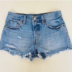 Levi's 501 Original Mid Rise Jean Shorts 27